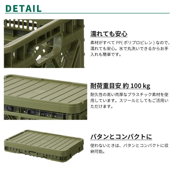 LOGOS ロゴス コンテナ 収納ボックス たためるストロングコンテナ・L (蓋付) 73188023 アウトドア用品  [lgs73188023]