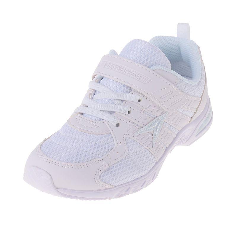 アキレス Achilles 瞬足 JJ-184 白 ホワイト 男女兼用 キッズ ジュニア 女の子 男の子 スニーカー 通学靴 白靴 子供靴 マジックテープ 2E