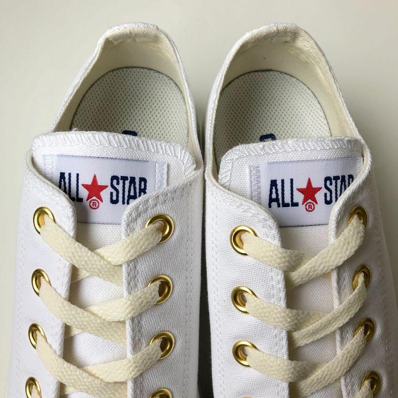 ☆コンバース converse スニーカー レディース ALL STAR LIGHT PLTS COLORS OX オールスター ライト PLTS カラーズ OX ホワイト/ゴールド レディス ウィメンズ 靴 シューズ 21SS