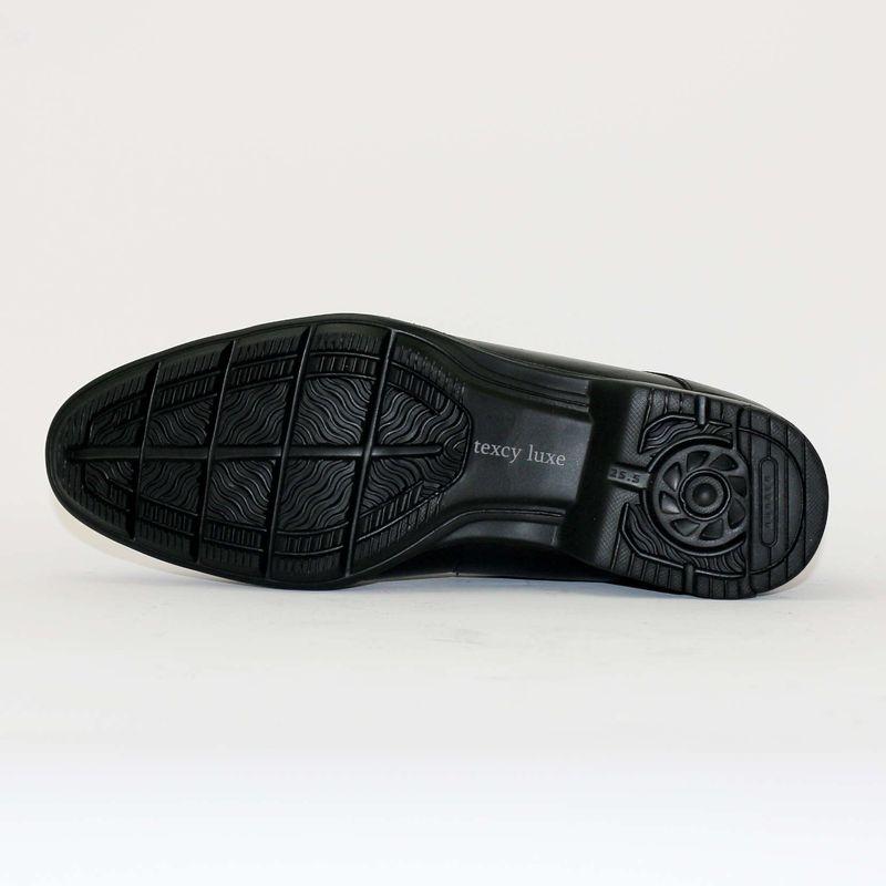 送料無料!☆texcy luxe テクシーリュクス TU-7775 ブラック 24.5〜28cm 革靴 ビジネスシューズ メンズ 幅広 軽量 紳士靴 アシックス商事 冠婚葬祭
