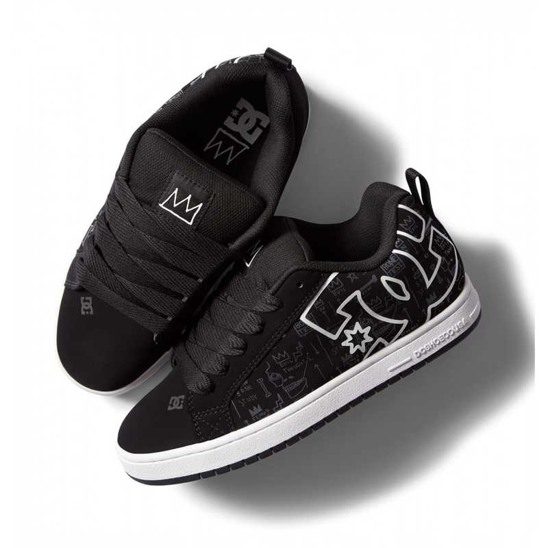 ☆DCシューズ スニーカー メンズ・ユニセックス QUI-DM214107 BASQ COURT GRAFFIK (BPT) バスキア ストリート 靴 シューズ 21FW