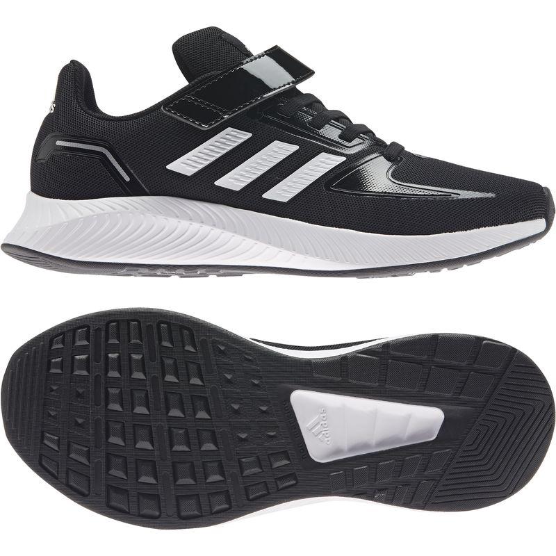 ☆アディダス adidas スニーカー ジュニア AJP-H01405 CORE FAITO EL K (H01405)コアブラック/フットウェアホワイト/シルバーメタリック キッズ  靴 シューズ 21SP