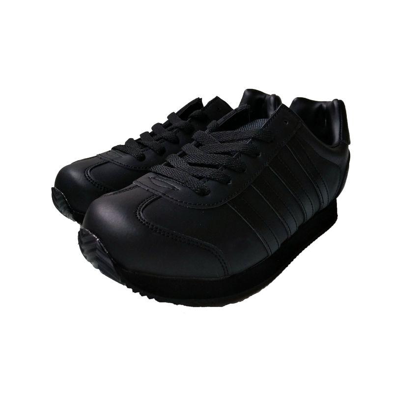 ☆ススニーカー メンズ カジュアル 3163 ブラック 24.5〜27,28cm 作業靴 黒 靴 シューズ