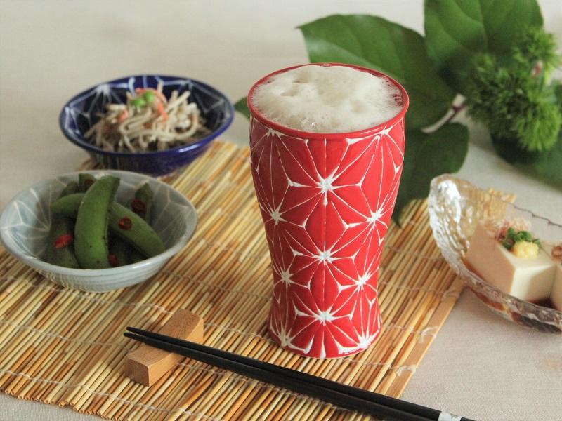 【父の日プレゼント・ラッピング付き】ホワイトライン麻 ビアカップ