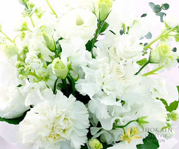 【供アレンジ0020】遥-はるか-(W/GR)【ヤマト急便100cmサイズ】