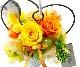 【プリザ】ママドルチェ(1)イエロー&オレンジ【100cmサイズ】