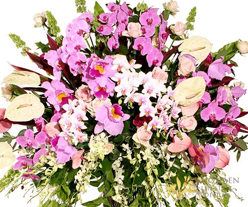 【スタンド生花】御祝スタンド花・生花スタンドー(超特大1段タイプ) ピンク×ホワイト系