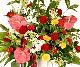 【スタンド生花】御祝生花スタンド(標準タイプ) レッド×イエロー系