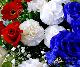 【スタンド生花】御祝生花スタンド(ハート型スタンド生花特殊オーダータイプ) 赤・白・青系