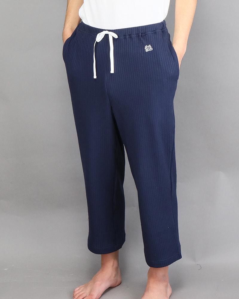 七分丈メンズパジャマパンツ ネイビー