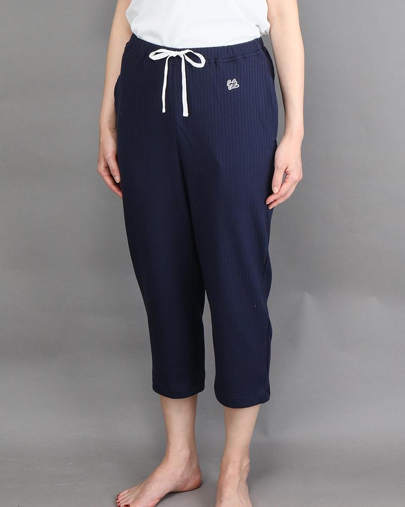 七分丈レディースパジャマパンツ ネイビー