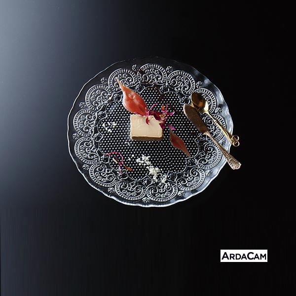 【ガラス丸皿】 コンテス プレート28