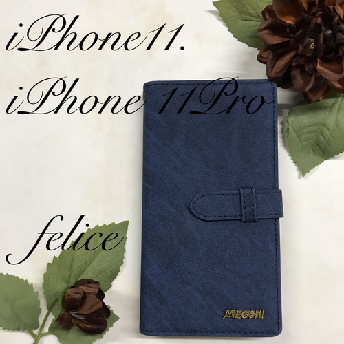 【新作】 iphone11/pro手帳型☆ウォレットケース☆収納抜群E