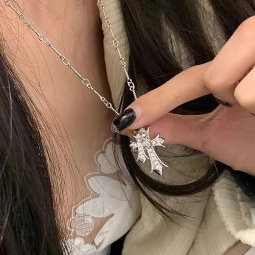 90【数量限定】 お洒落 クロス ネックレス メンズ レディース 韓国