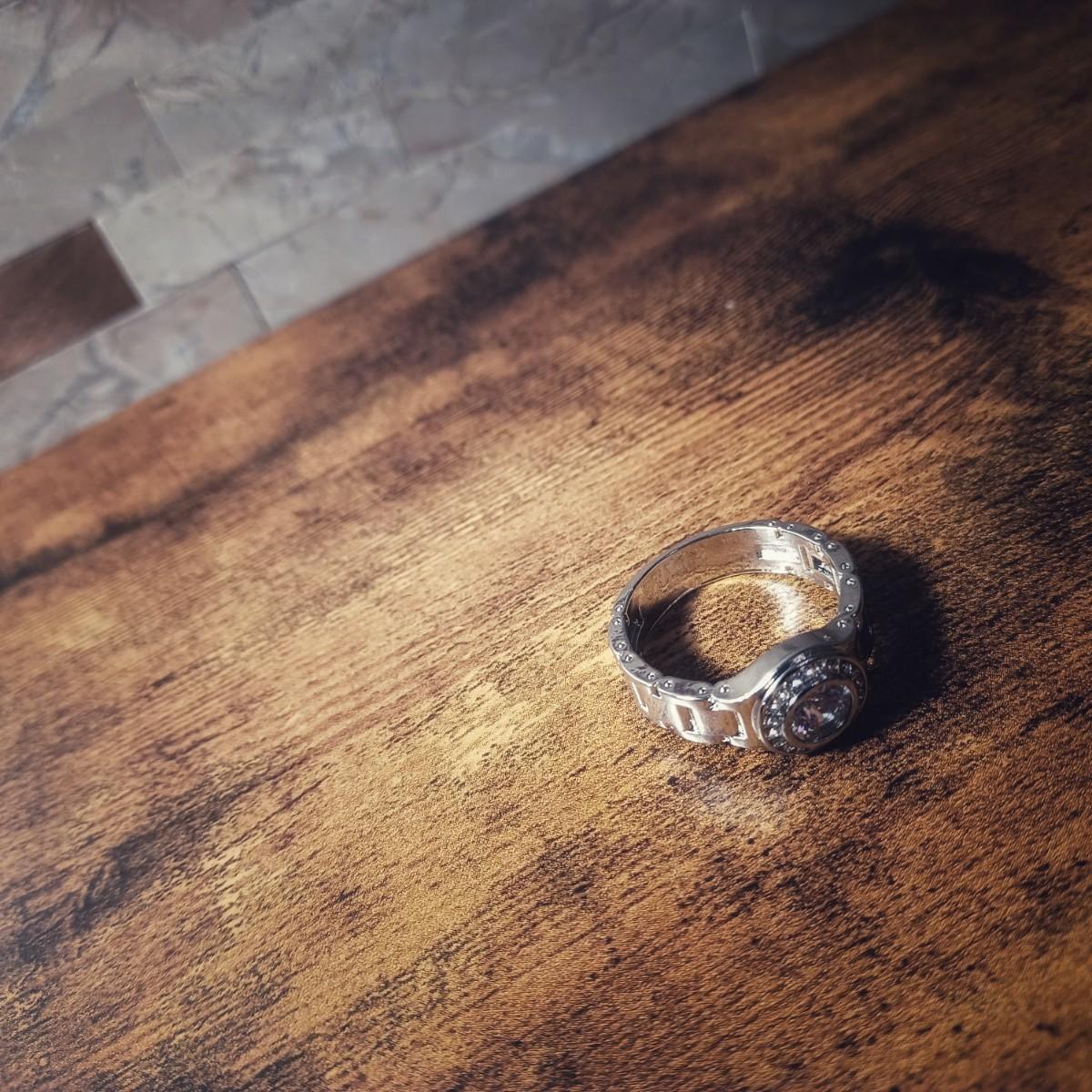 新品 シルバー ラグジュアリー メンズ リング 指輪 ブリンブリン ラッパー