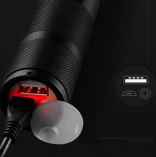 ★USBケーブル付き★懐中電灯 led 強力USB充電式充電 防水 緊急携帯
