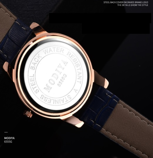 コスパ最強☆新品 送料込み MODIYA ビジネス 腕時計 クォーツ メンズウォッチ 黒