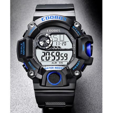 新品 送料無料 デジタル腕時計多機能 キッズ(ボーイズ)から大人まで 黒青