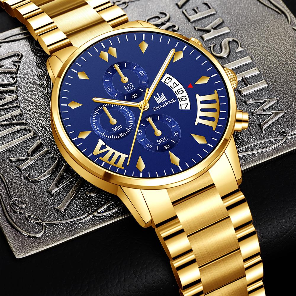 2新品 腕時計メンズ★ラグジュアリーパープル×ゴールド ★男女可能