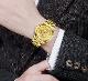 17新品 ドラゴン スタイル メンズ ラグジュアリー腕時計 ゴールド