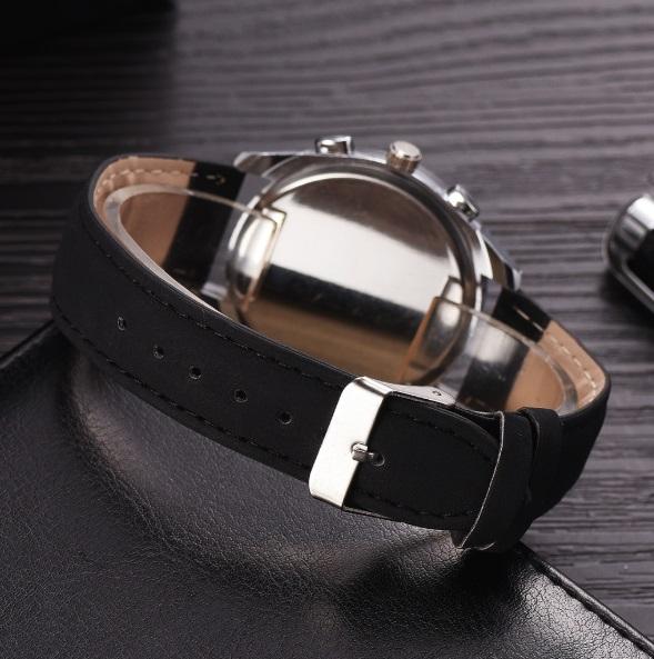 新品 送料込み デュアルタイプ 腕時計メンズ ラグジュアリー黒