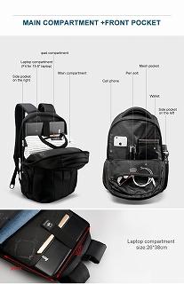 Tigernu 防滴 15.6 インチ ラップトップ バックパック キーなし TSA 盗難防止 パックバッグ男性 bagpack <海外お取寄品>