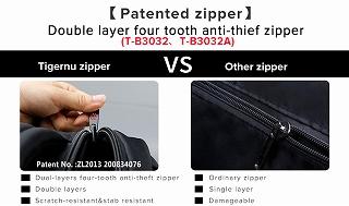 Tigernu 盗難防止 20L 大容量 15.6 インチ バックパック 黒 バックパック ラップトップ 17 インチ  <海外お取寄品>