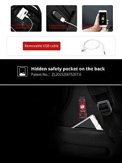 Tigernu 15.6 インチ 27L USB充電 盗難防止 防水 ナイロン 男性 バックパック ビジネス ノートパソコン  <海外お取寄品>