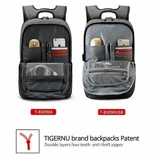 Tigernu  バックパック盗難防止 Mochila ラップトップ 14-15 インチのノートブックコンピュータバッグ <海外お取寄品>