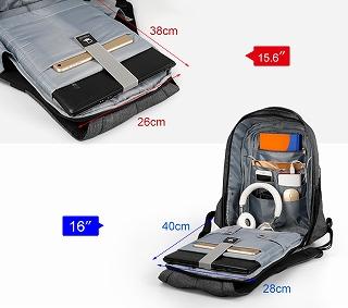 Tigernu ハードシェル  盗難防止 耐衝撃 15.6 インチ USB 充電バックパック 旅行 男性 Mochilas  通学 <海外お取寄品>