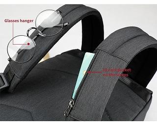 Tigernu ファッション女性赤 USB 充電 盗難防止 女性男性 Mochila 15.6 ラップトップバッグ <海外お取寄品>