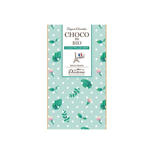 【秋冬限定】ダーデン チョコっとビオ 有機ミントチョコレート カカオ71% 5本×2