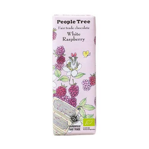 【秋冬限定】People Tree  フェアトレードチョコレート ホワイトラズベリー 50g new