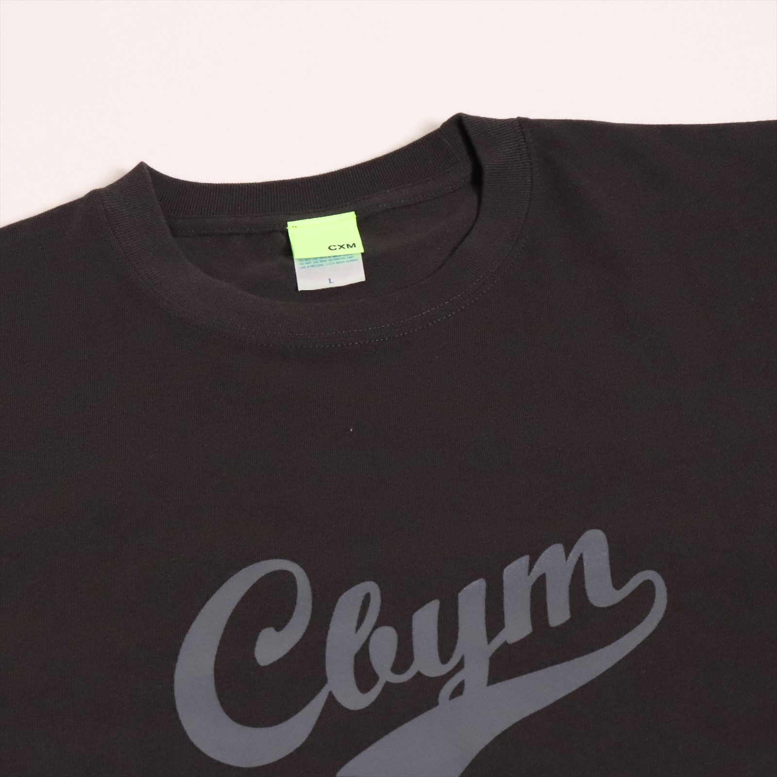 CXM シーバイエム T-shirts Cbym LOGO チャコール