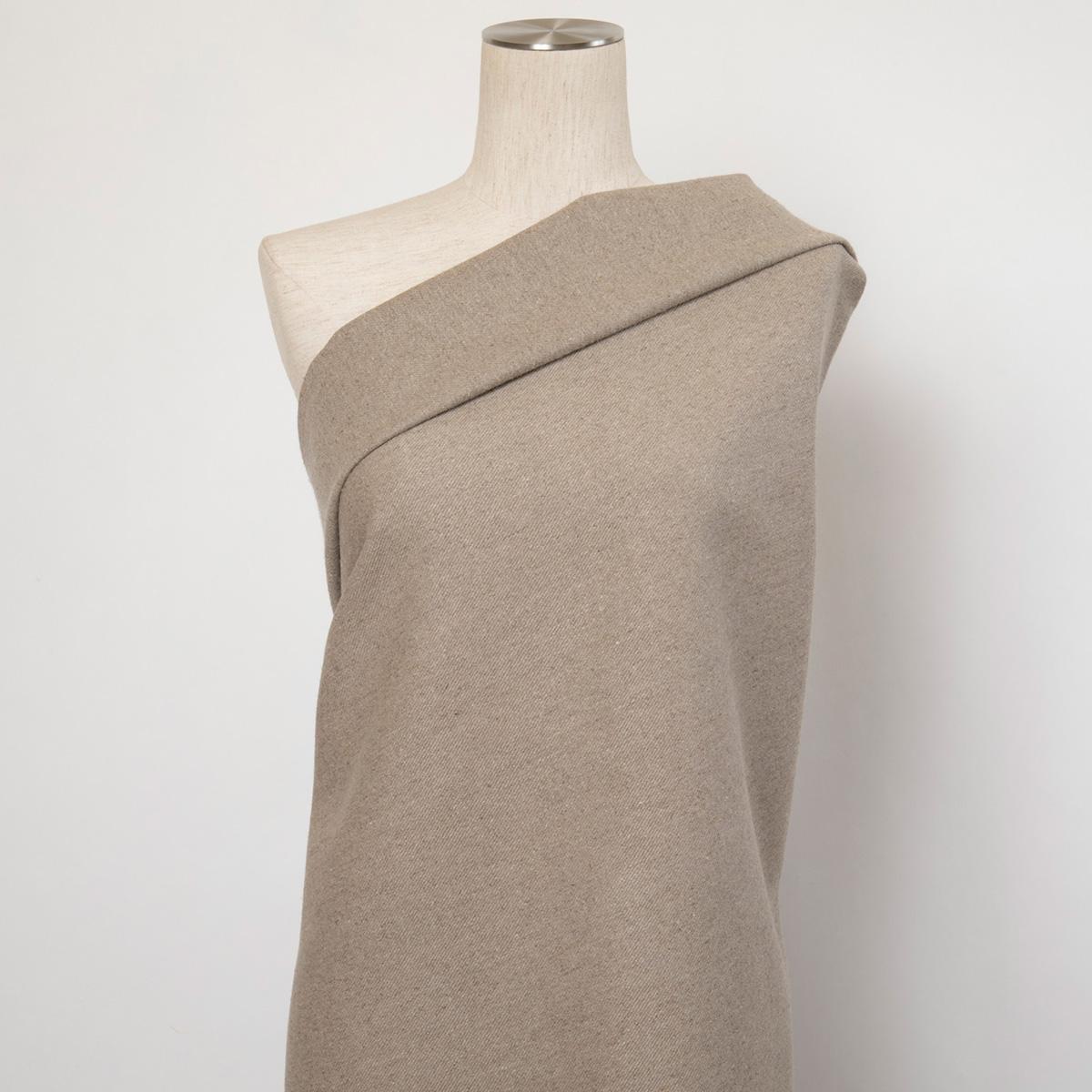 155cm巾 【 リネン 100%  生地  】ナチュラル 無地 極厚地 ツイル 1m単位 R1-45【カーテン、コートに最適】