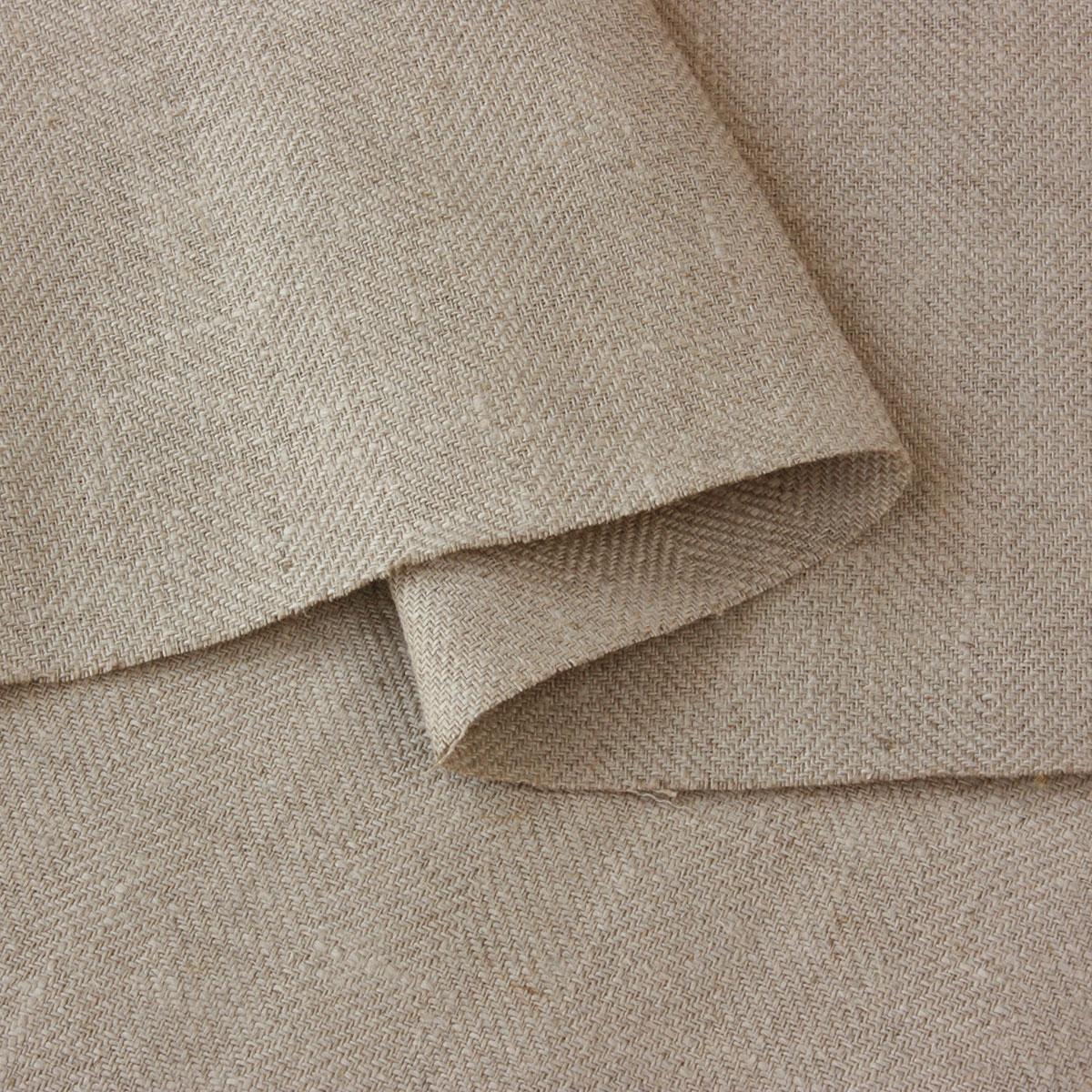 150cm巾 【 リネン100% 生地 】 ナチュラル ヘリンボーン 厚地 1m単位 ORF44-201【ソファカバー、エプロン、コートに最適】