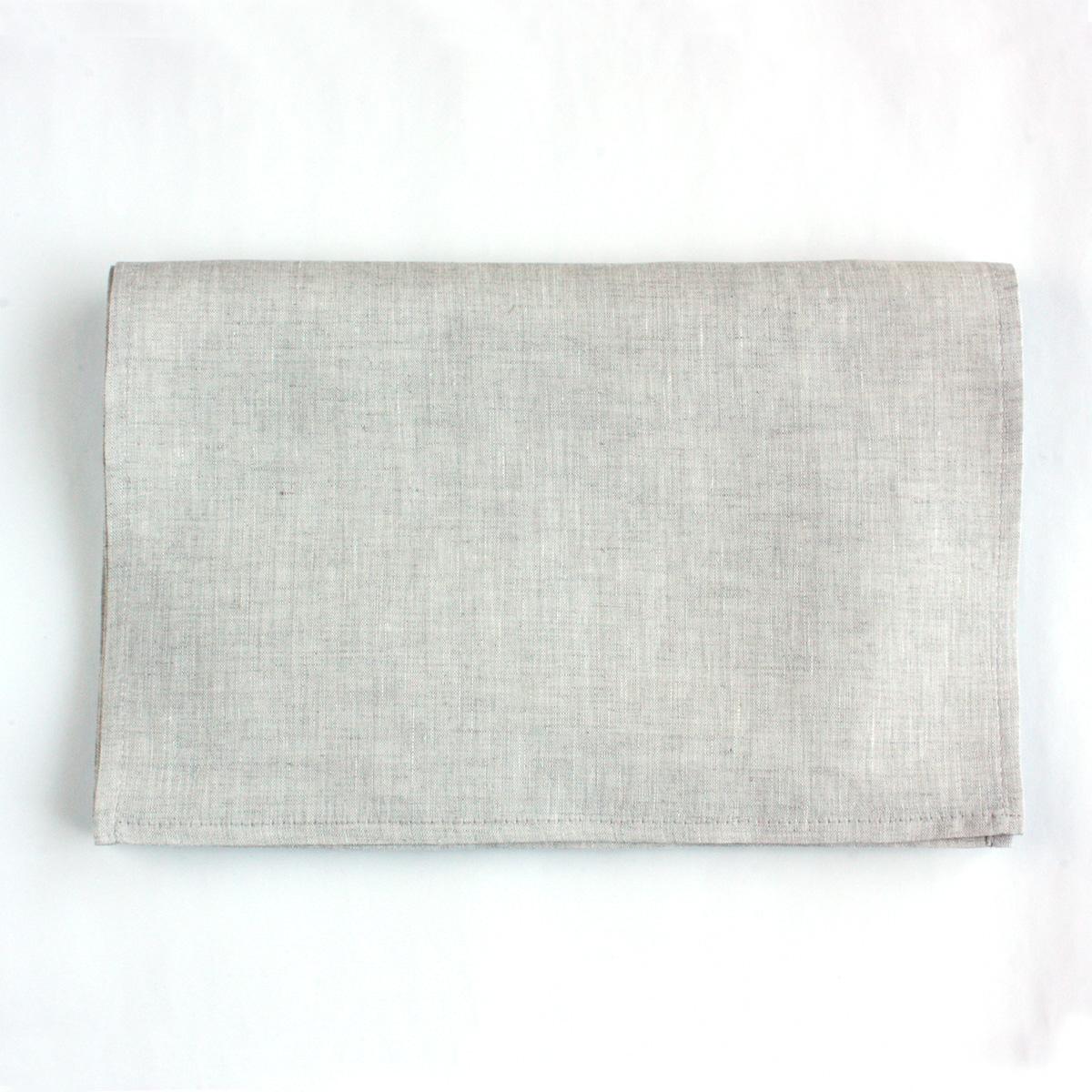 Cadeauya【 てぬぐい / フェイスタオル 】手ぬぐい ピュアリネン 生成り 無地 32×91cm
