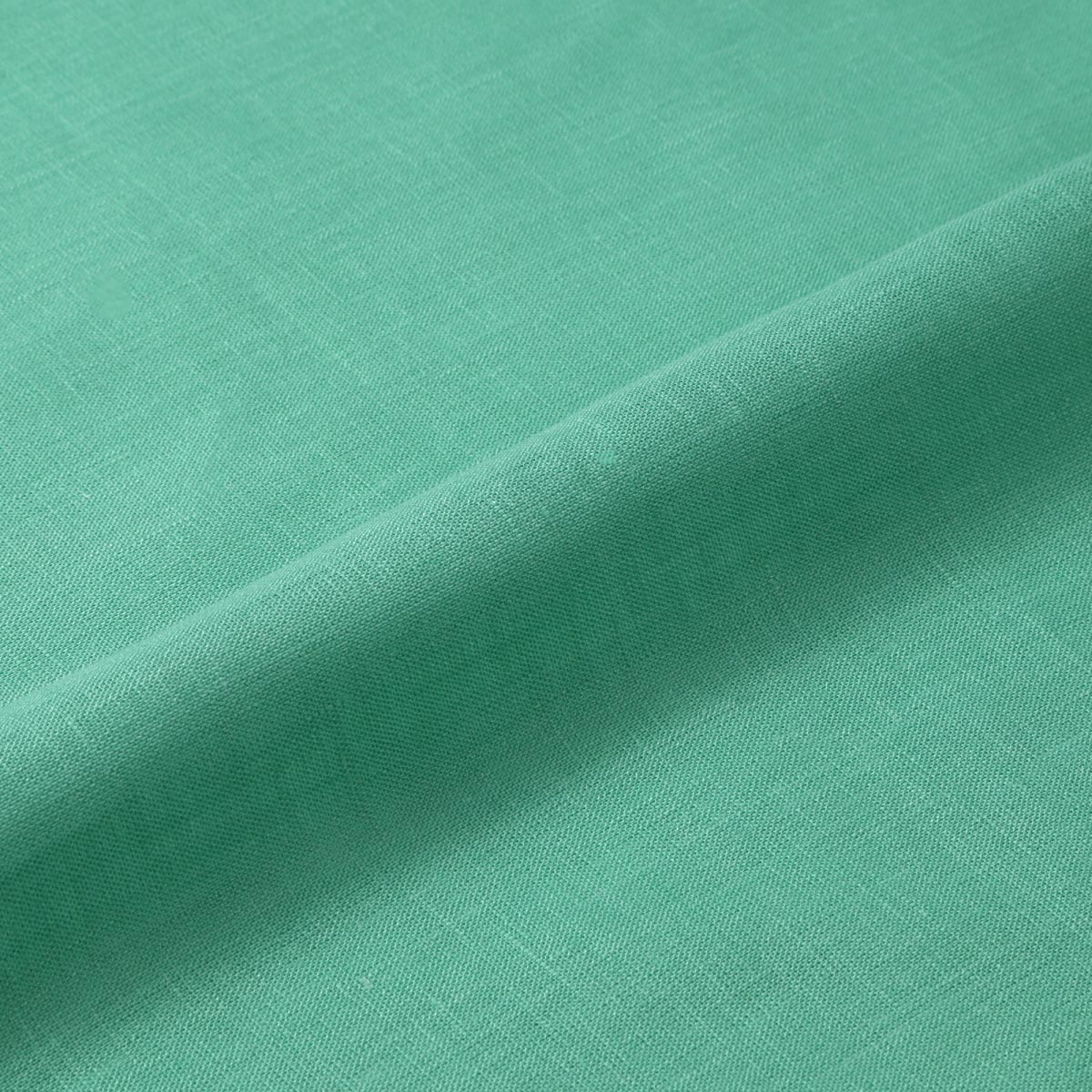 150cm巾 【リネン100%生地】 グリーン 無地 普通地 1m単位 GR-393 【ワンピース、スカート、シャツ、カーテンに最適】