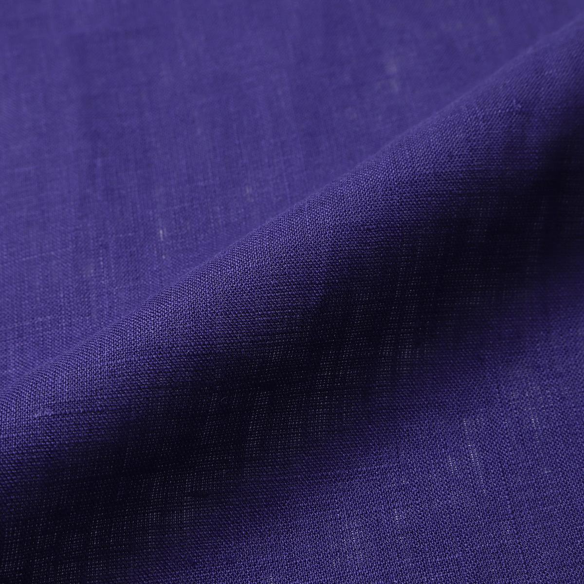 150cm巾【 リネン 100%生地 】 パープル 薄地 1m単位 R0078-233【シャツ、スカート、ワンピースに最適】