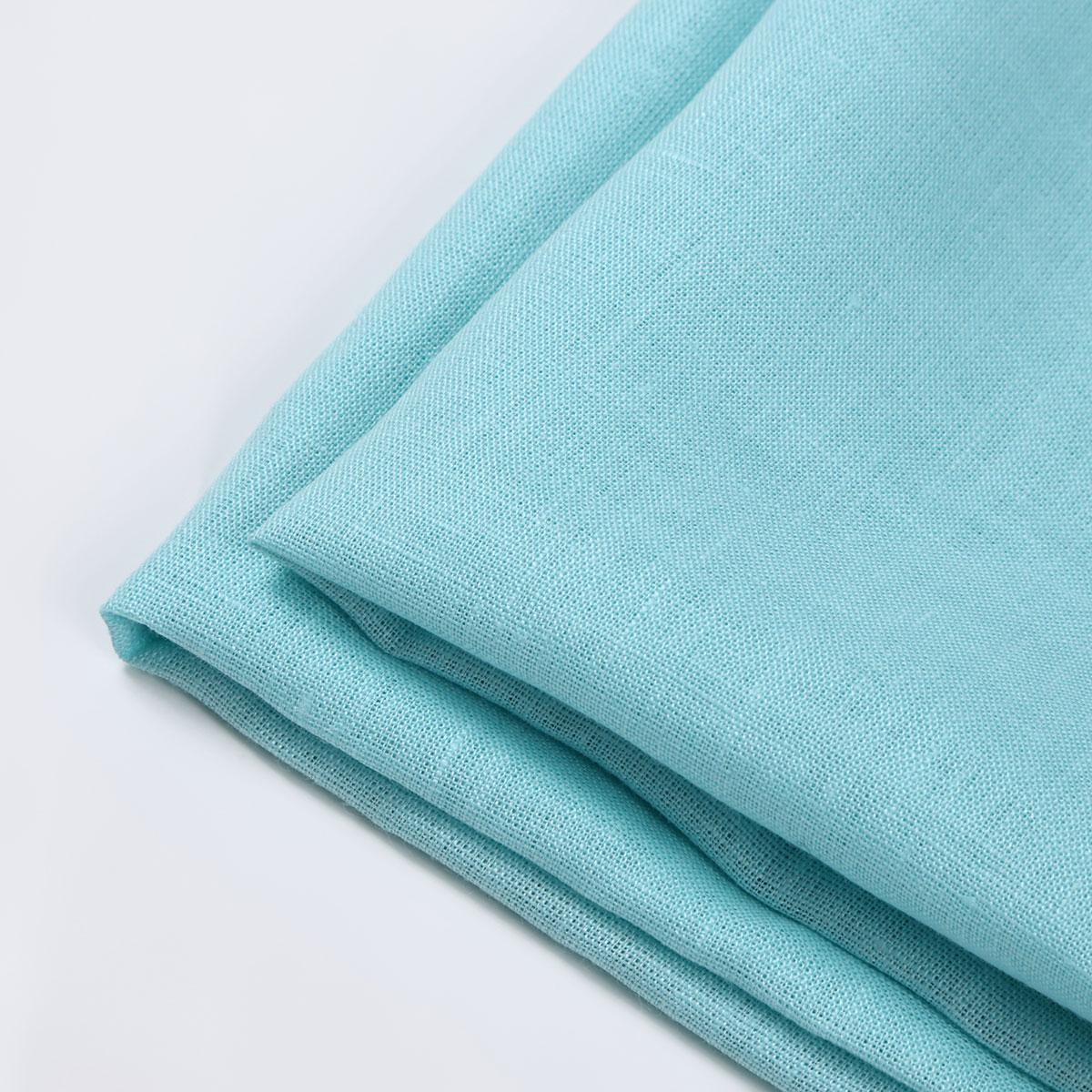150cm巾 【リネン100%生地】 スカイブルー 無地 薄地 1m単位 BL-1105 【ワンピース、スカート、ブラウス、カーテンに最適】