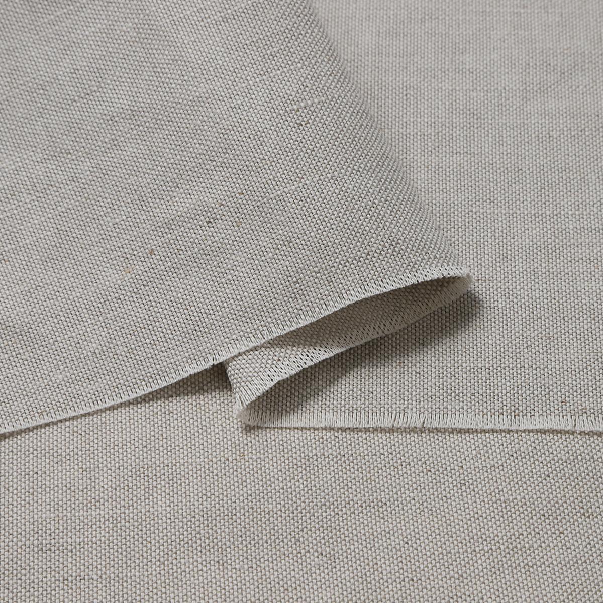 153cm巾【 リネンコットン混 】 オートミール オックス風 厚地 1m単位 R1753【バッグ、ジャケットに最適】