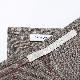 Cadeauya【 リネン フェイスタオル 】グラフチェック レッド 33x79cm ベラルーシリネン100%