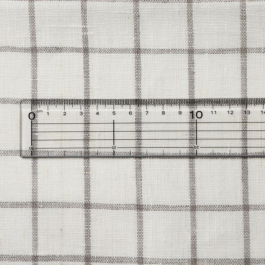 Cadeauya【 リネン フェイスタオル 】グラフチェック ナチュラル 33x79cm ベラルーシリネン100%