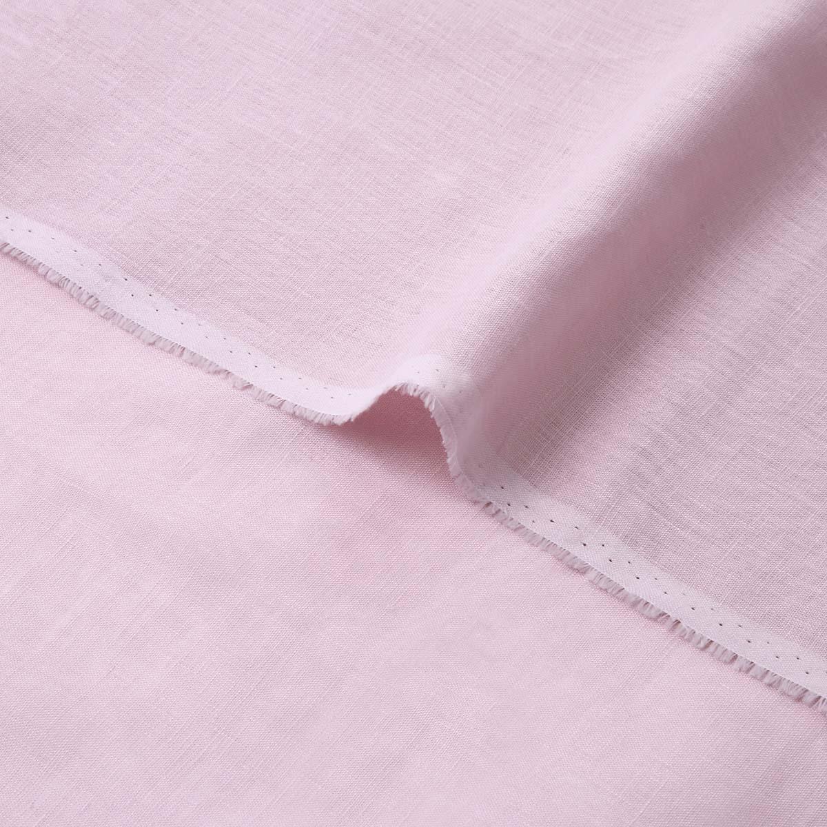150cm巾【 リネン 100%生地 】 パープルピンク 薄地 1m単位 R0078-236【シャツ、スカート、ワンピースに最適】