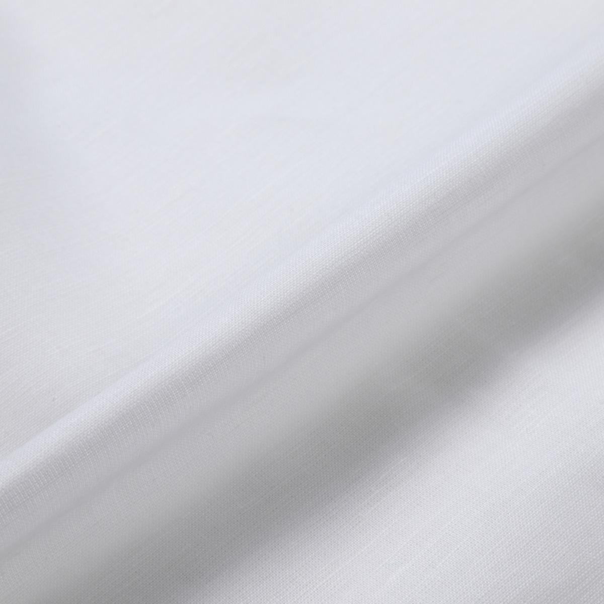 150cm巾【 コットンリネン 生地 】ホワイト  薄地 1m単位 R0045-200【シャツ、スカート、ワンピースに最適】