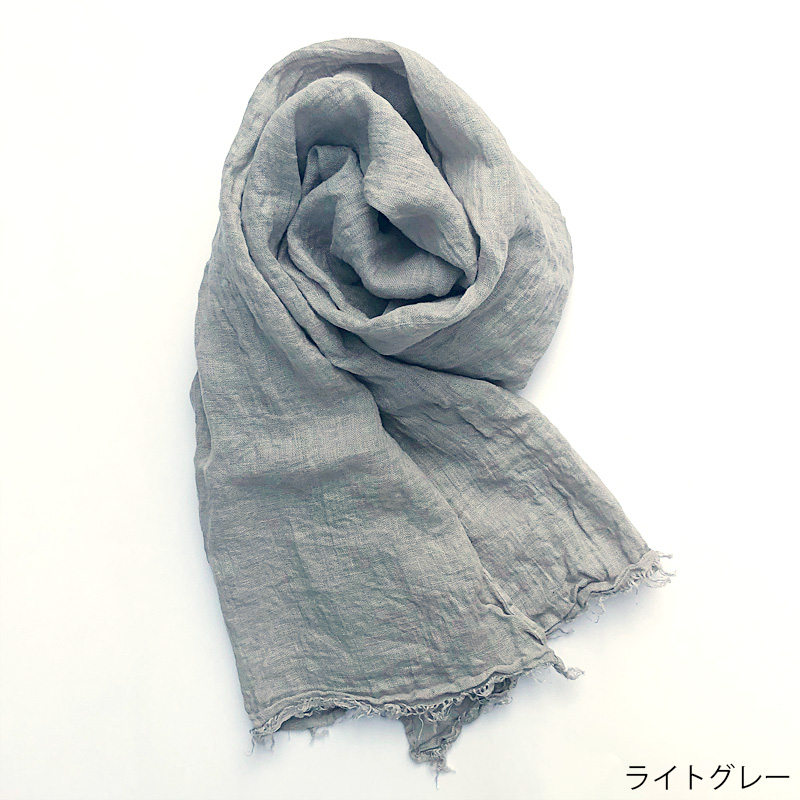 【リネンストール】サマーストール 無地 6色