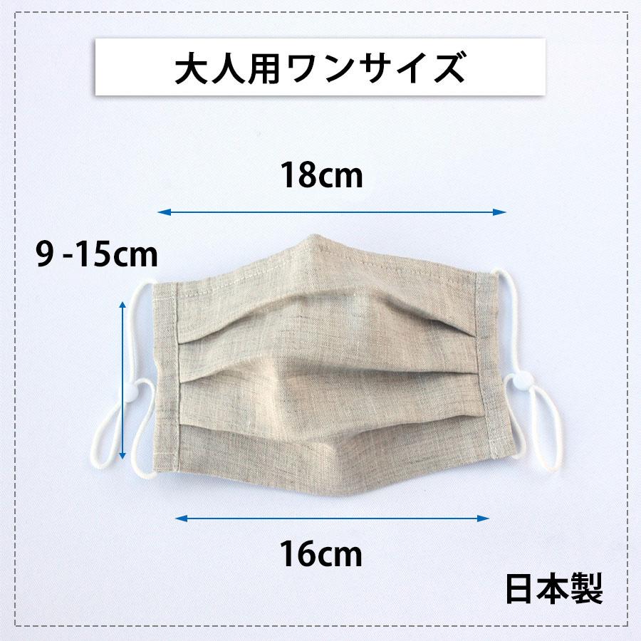 【送料無料】リネン プリーツマスク