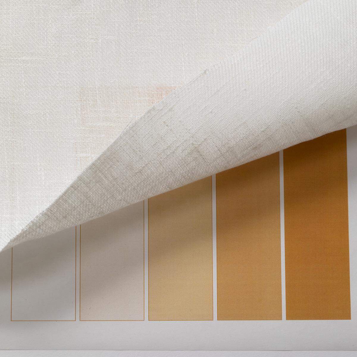 150cm巾 【 リネン 100% 生地 】 ホワイト 無地 厚手 1m単位 R1458<旧品番 W-8541> 【スカート、バッグ、小物に最適】