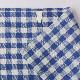 リネンキッチンクロス ブルーxホワイトチェック 【吸水・速乾・抗菌・耐久性が高い天然素材リネン(麻)100%】