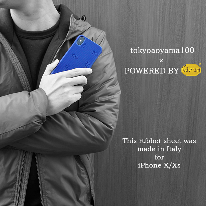 Vibram × tokyoaoyama100 iPhone CASE Cover Type  (カバータイプ)iPhoneX/iPhoneXs対応